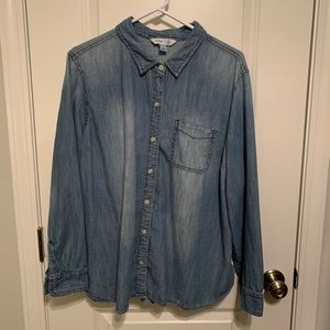 Old Navy chambray button-down shirt, size XXL
